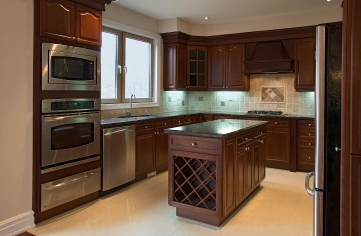 Кухня с островом – фото дизайна и описание преимущества -> Kuchnia Retro Cena